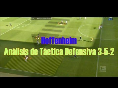 [Parte 1] Hoffenheim 3-5-2 Táctica defensiva. Versión en español