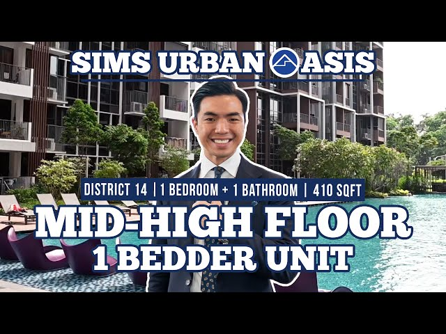 Sims Urban Oasis Mid-high Floor 1 Bedder Unit 3 minutes from Aljunied MRT station