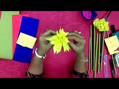 DIY Crape Paper Flower Type III - Roma Arts 010