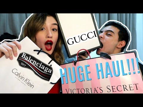 HUGE SINGAPORE HAUL! *Gucci, Victoria's Secret, Balenciaga, Sephora, Apple, etc!* | Natasha Ryder