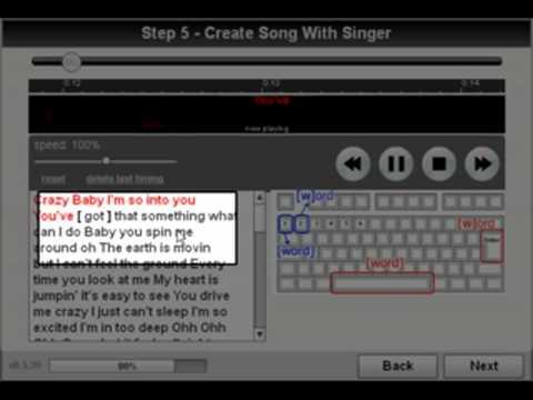 Video guide how to create karaoke