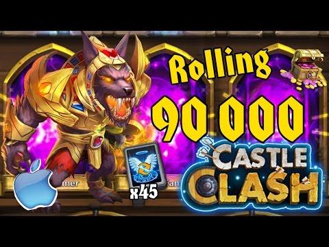 Битва Замков - Ролл талантов и героев на 90.000 самов (iOS) / Castle Clash