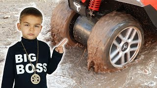 Dima Big Boss - power wheels car stuck in the mud