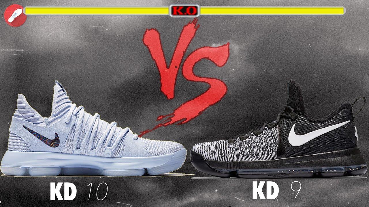 ac48e973e456 Nike Kd 10 vs Kd 9! - YouTube