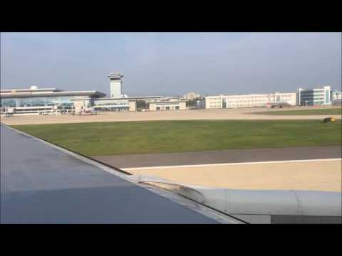 Air Koryo Landing Pyongyang International Airport