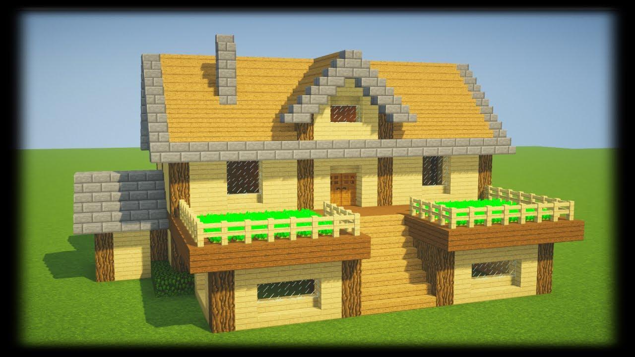Tuto Belle Maison De Survie En Bois Minecraft Youtube
