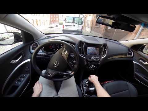 Hyundai Grand Santa Fe 2014 POV test drive GoPro