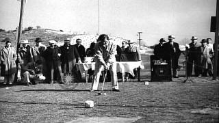 Competitors at the 1937 Los Angeles Open Golf Tournament at Griffith Park Golf Co...HD Stock Footage