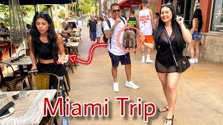 Our Miami Trip!!!  She Fell For It!!!