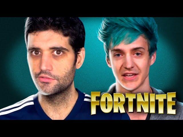 Assistindo o NINJA jogar Fortnite pela primeira vez, joga MUITO esse menino