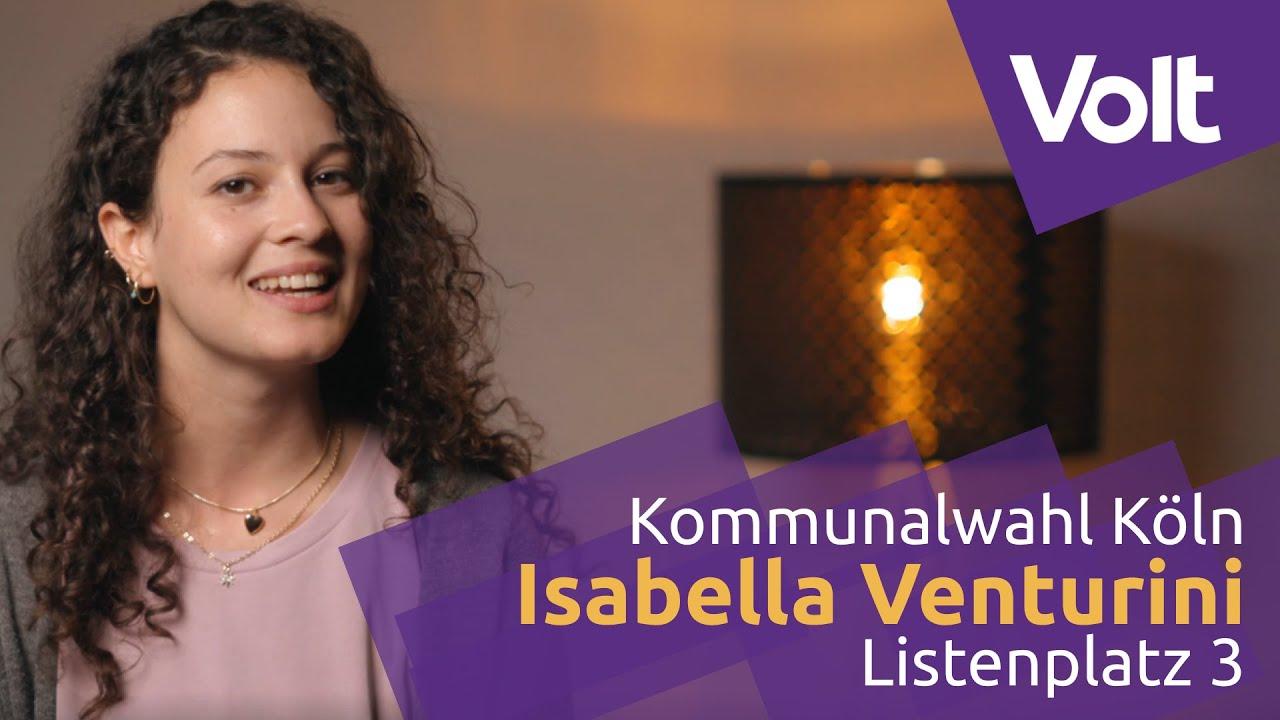 YouTube: Volt Köln Kommunalwahl 2020 - Isabella Venturini für den Stadtrat! #VoteVolt