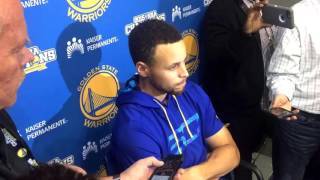 Steph Curry on if ankle brace affected MCL injury:
