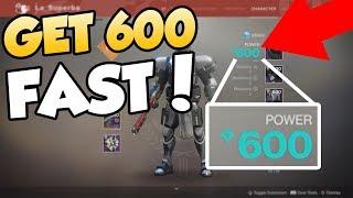 HOW TO GET 600 LIGHT LEVEL FAST & Lvl 50 FAST! - Destiny 2 Forsaken