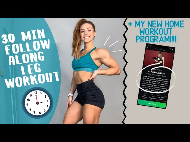 FULL FOLLOW ALONG HOME LEG WORKOUT + MY NEW HOME WORKOUT PROGRAM!!! :) Lauren Findley