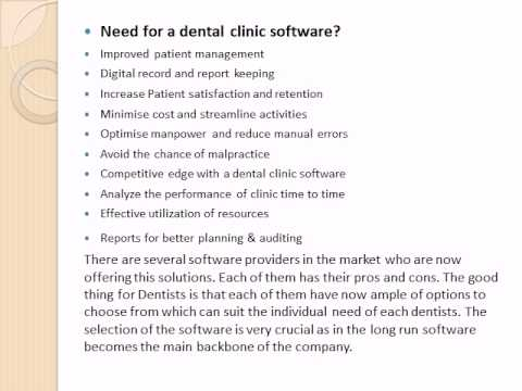 Dental clinic software Is The best solution For Dentist