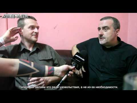 Justin Broadrick and G.C. Green of GODFLESH interview Moscow, Russia, 2013