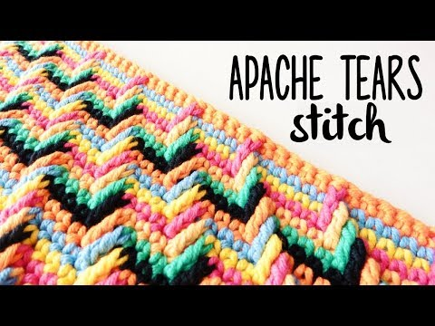 How to crochet APACHE TEARS stitch ♥ CROCHET LOVERS