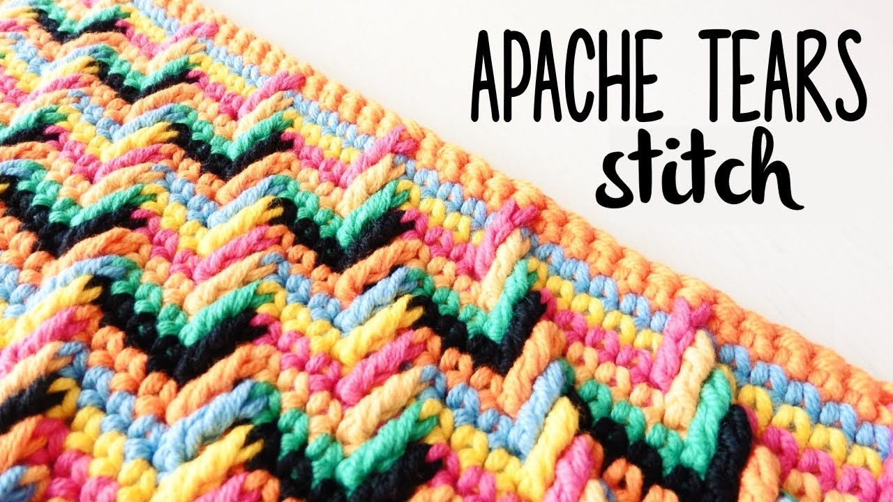 How To Crochet Apache Tears Stitch Crochet Lovers Youtube