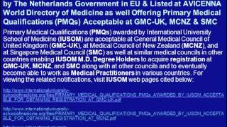 Apply for PreMed Admissions for January 2013 Semester at IUSOM: Listed at AVICENNA Directory