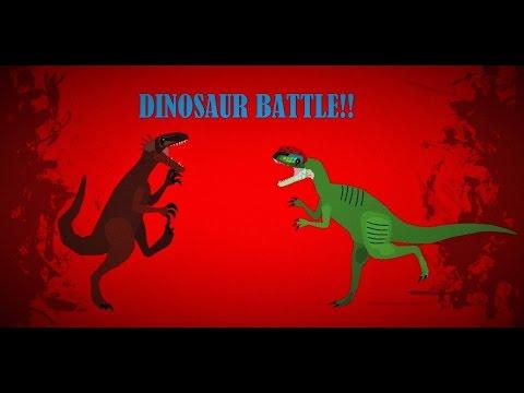 Dilophosaurus Vs Australovenator DINOSAUR BATTLE!!!
