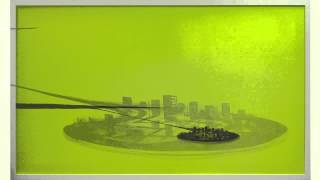Wanda Koop  Satellite Cities (Yellow/Green With Dark City), 2007