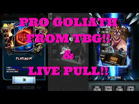 PRO GOLIATH FROM BG!!!  |   WWE Supercard #100 (Season 4)