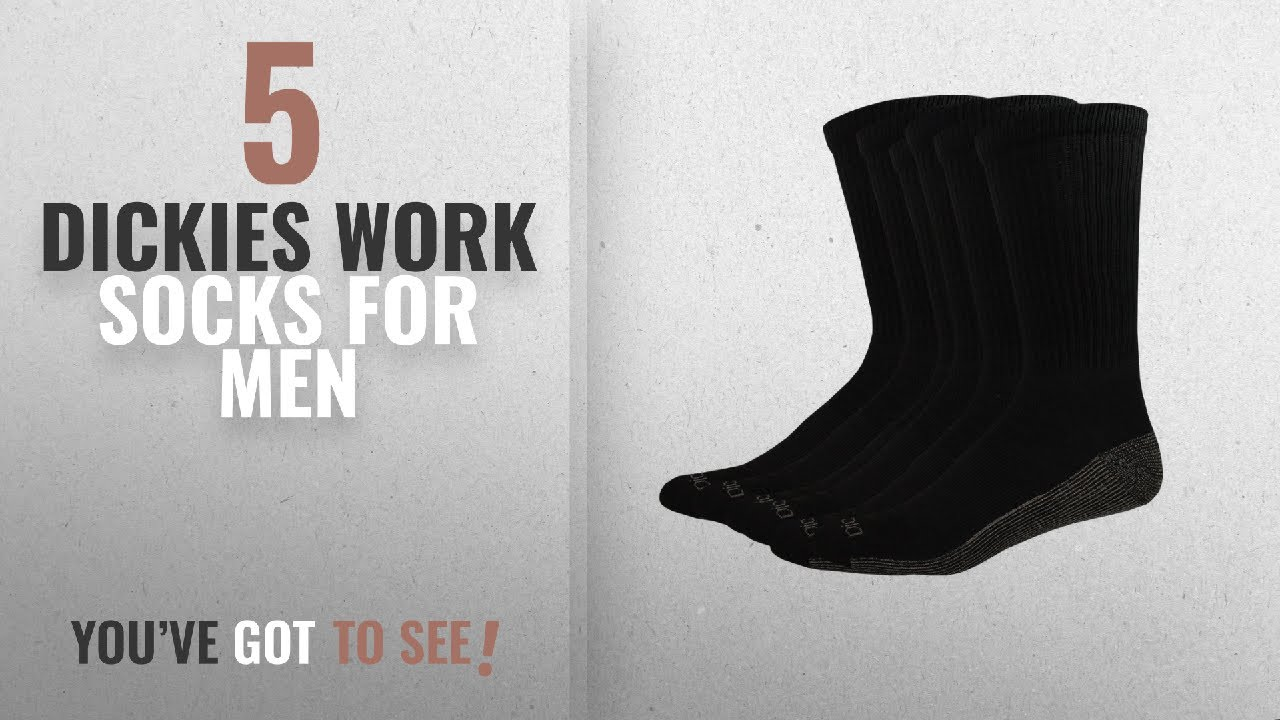 426e92584 Top 10 Dickies Work Socks  2018    Dickies Multi-Pack Dri-Tech ...