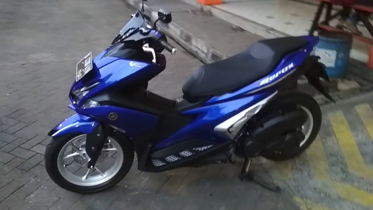 Download 45 Modifikasi Yamaha Aerox Biru Terupdate Gendoel Motoer