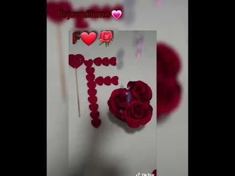 حرف F مع أغنية للعشاق حالات عيد الحب Youtube