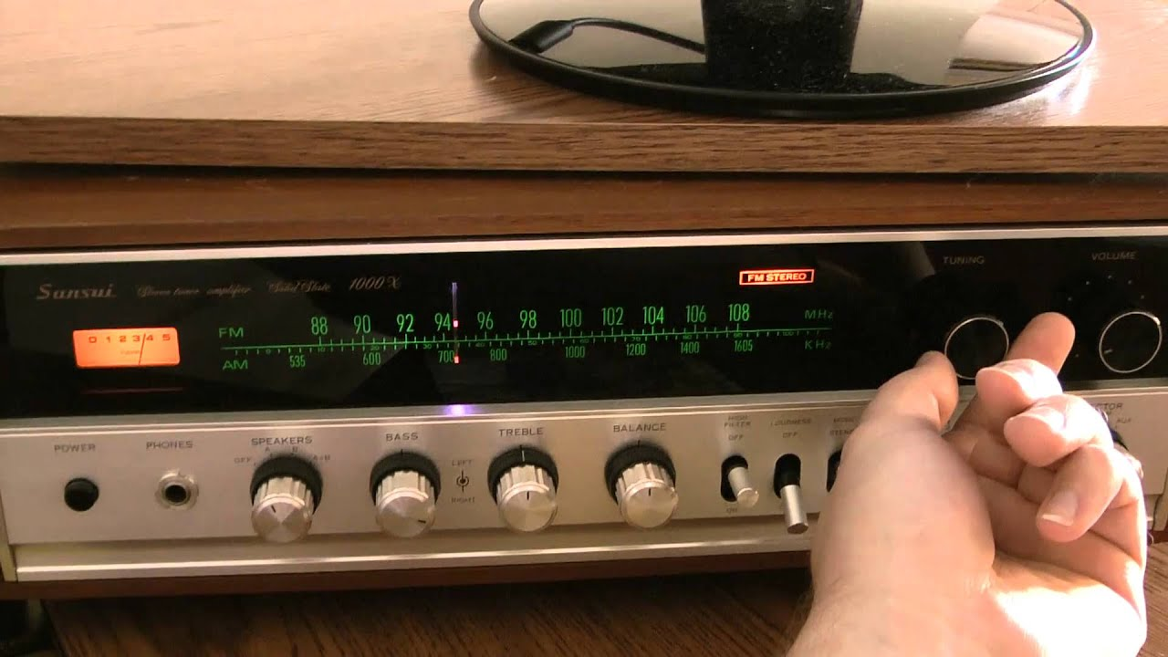 house fm antenna system test on sansui 1000x youtube