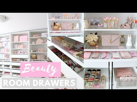 MY BEAUTY ROOM AND MAKEUP COLLECTION!🏡💕-SLMissGlamVlogs🏡💕