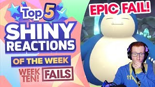 TOP 5 EPIC SHINY FAILS OF THE WEEK! Pokemon Let's GO Pikachu and Eevee Shiny Montage! Week 10