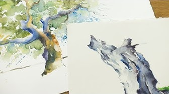 "Dein Tutorial ""Bäume im Aquarell"" | Video zum Buch: ""Das gelungene Aquarell"""