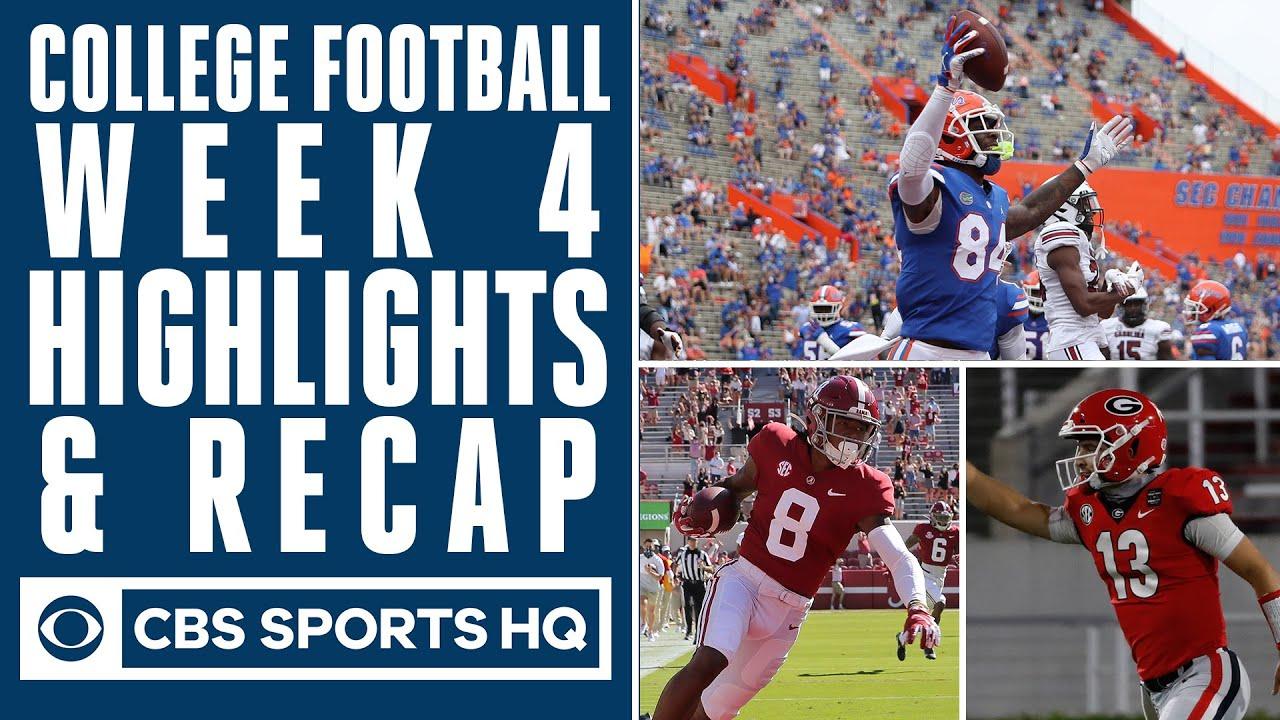 College Football Week 4 Highlights Recap Cbs Sports Hq Youtube