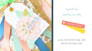 Creating Layered Tags for Burlap Gift Bags