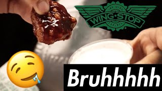 FLAVOURS LEFT US EMOTIONAL! | WINGSTOP REVIEW | UK GRAND OPENING!