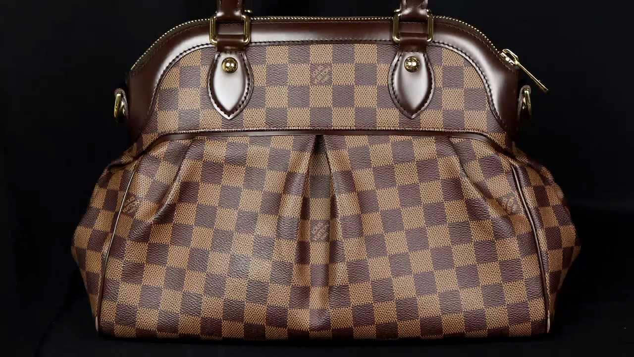 9b9cf04e7443 Authentic Louis Vuitton Damier Trevi PM - YouTube