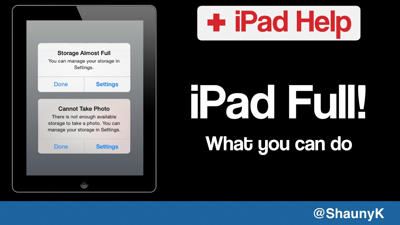 Ipad Help Storage Full Or Short Of Memory How To Check And Fix