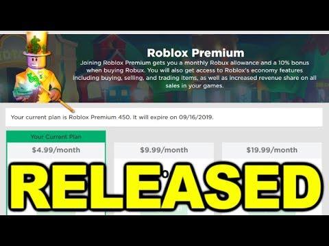 Roblox Premium Has Been Released Youtube Roblox Premium Has Been Released Youtube