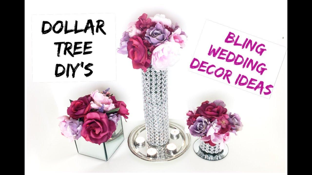 DIY | Dollar Tree Bling Decor Stands | Wedding Bling Centerpiece ...