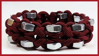 Paracord Bracelet Tutorial: Hex Nut And Clove Hitch Bracelet