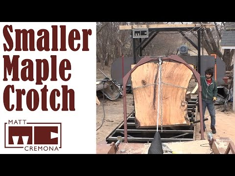 Slabbing the Smaller Maple Crotch (Big Logs #1)