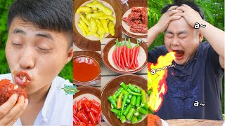 Don't Try To Beat the King of Chili! || TikTok Funny Mukbang || Songsong and Ermao #Shorts