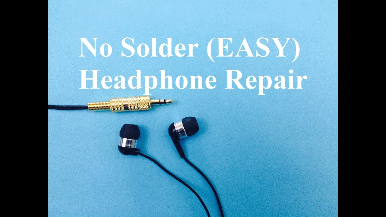 medium resolution of headphone repair no solder easy