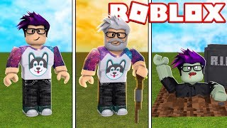 GROW OLD AND BECOME A ZOMBIE in ROBLOX