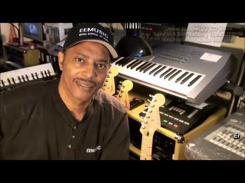 GUITAR BOOGIE 12 Bar Blues 110bpm Band In A Box Backing Track + Chord Tabs E Major