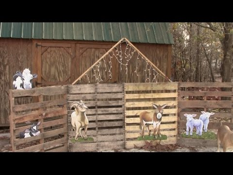 Christmas Stable Background.Diy Simple Nativity Scene