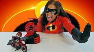 The Incredibles 2 Stretching & Speeding Elasticycle !    Disney Toy Review    Konas2002