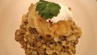 Lentils And Rice With Fried Onions Mujadarrah