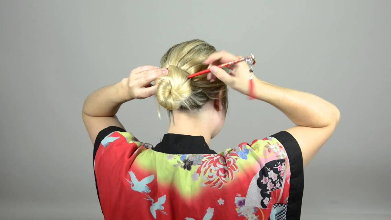 Tuto chignon pic à cheveux: l'Escargot - YouTube